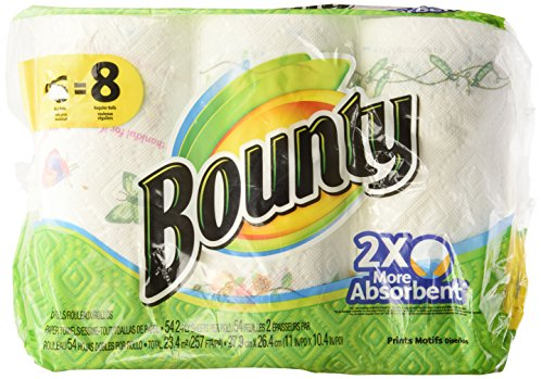 Bounty Big Roll Paper Towels, Prints, 6 Count