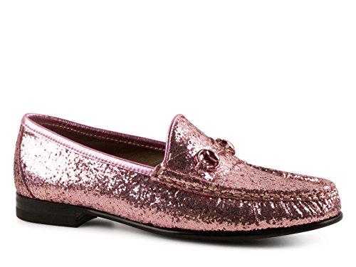 gucci damen mokassins schuhe in weichem rosa glitter modellnummer 354136 kse10 5860 gr e. Black Bedroom Furniture Sets. Home Design Ideas