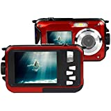 Waterproof Camera KINGEAR 2.7 Inch LCD 16 MP 8x Zoom Digital Camera With Underwater 10m Waterproof Yellow Red