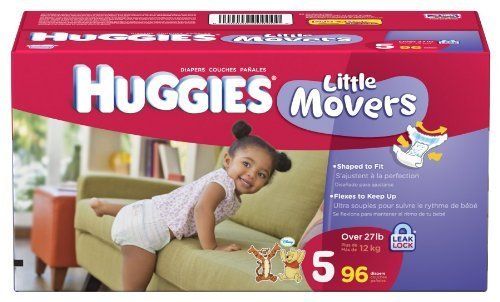 Huggies Little Movers Diapers Size 5 96-Count by Huggies