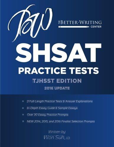 SHSAT Practice Tests: TJHSST Edition