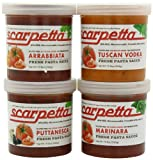 Scarpetta Pasta  Lovers Gift Box, 19.8-Ounce Jar (Pack of 4)
