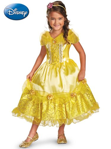 Disguise Disney's Beauty and The Beast Belle Sparkle Deluxe Girls Costume