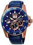 Seiko Men's Grand Sport, kinetic, Blue & Bronze SNP064P1