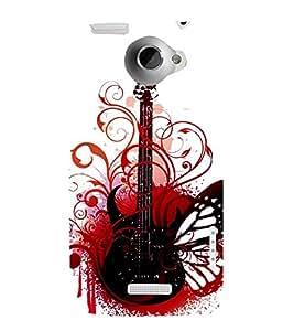 Wonderful Guitar Cute Fashion 3D Hard Polycarbonate Designer Back Case Cover for HTC One X :: HTC One X+ :: HTC One X Plus :: HTC One XT