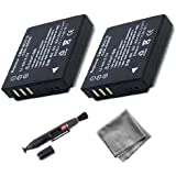 UltraPro 2-Pack CGA-S005e High-Capacity Replacement Battery for Panasonic Lumix DMC-LX1 DMC-LX2 DMC-LX3. Also Includes: Deluxe MicroFiber Cleaning Cloth, Lens Cleaning Pen