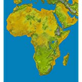 Satellite Map of Africa poster