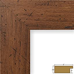 Craig Frames FM74DKW 12 by 18-Inch Picture/Poster Frame, Smooth Grain Finish, 2-Inch Wide, Dark Brown