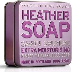 Scottish Fine Soap Heather Soap 100g in Tin