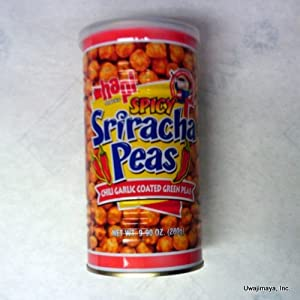 Hapi Snacks - Spicy Sriracha Peas - Chili Garlic Coated Green Peas Net Wt 99 Oz from Hapi Snacks