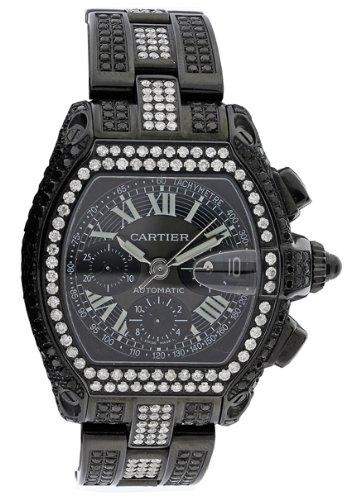 Men's Diamond Cartier Watch Roadster 12 Ct