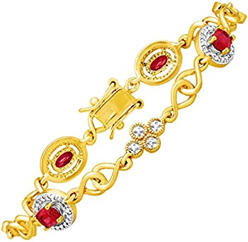 2 3/8 ct Ruby Tennis Bracelet