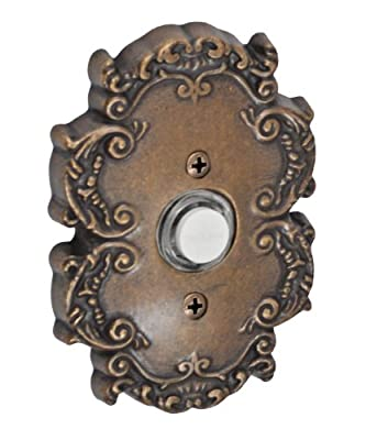 Fusion Hardware BEL-C8-MDB Designer Collection Victorian Doorbell, Medium Bronze, 1-Pack