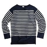フランス軍タイプ ボーダー長袖Tシャツ not90220510204 (表記104(日本サイズL相当), NAVY/WHITE)
