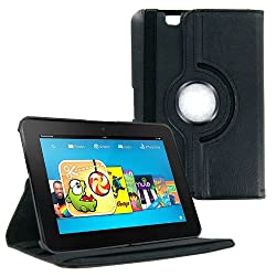 AE 360 Rotating Leather Stand Case Cover for Amazon Kindle Fire HD 7 inch