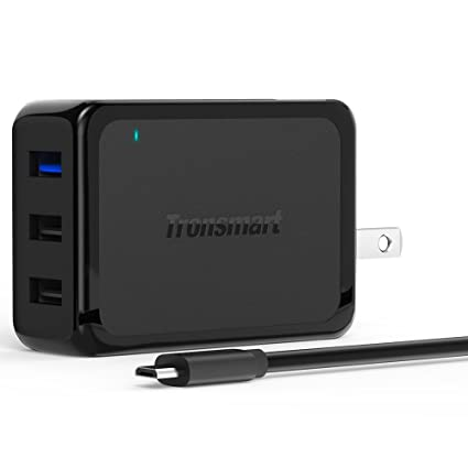 [Updated Version] Tronsmart Quick Charge 2.0 42W 3-Port USB Wall Charger Travel Charger for Galaxy S7, S7 Edge, S6, LG G4, Nexus 6 and More (Includes a 6 Feet Micro USB Cable)