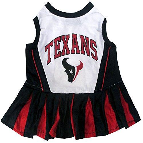 Pets First NFL Houston Texans Cheerleader Dress, X-Small