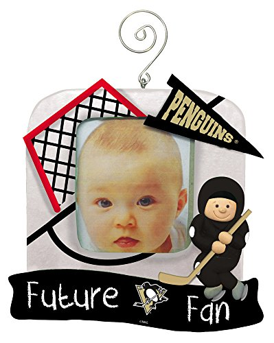 Pittsburgh Penguins Official NHL 5.25 inch x 5 inch x 2.5 inch Future Fan Photo Frame Christmas Ornament