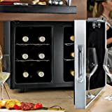 wine enthusiast silent 12 bottle 2 temp touchscreen wine refrigerator
