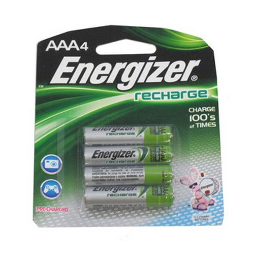Energizer Rechargeable Batteries Size Aaa Blister Pack 4