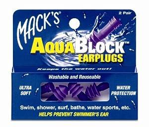 Mack's AquaBlock Earplugs - Purple (2 pair)