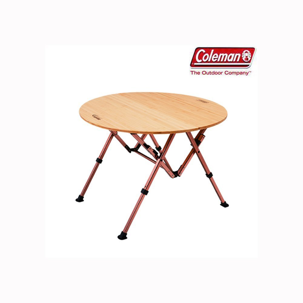 Coleman cm bamboo round table 85 ebay for Round table 85 ortenau