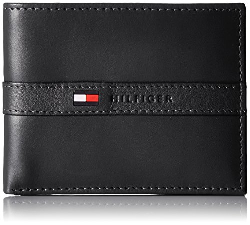 tommy-hilfiger-mens-ranger-leather-passcase-wallet-with-removable-card-case-black-one-size