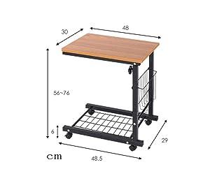 WSI Laptop Bett Tabelle, Computertisch Rutschfester Fuß Adjustable Persönlicher Moderner Laptop Schreibtisch Ausgangseinfaches Schreibtisch Bett Büro 30 48 56CM / Pattern 3 (Color: Pattern 3)