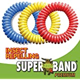 Superband PREMIUM Insect Repellent Bracelet: Assorted Colors (10)
