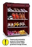 Pindia  Shoe cabinet , 4-5  Layer Maroon Shoe Rack Organizer