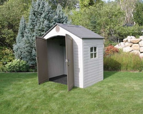 cheap garden sheds: Lifetime 8 x 5 ft. Outdoor Storage Shed