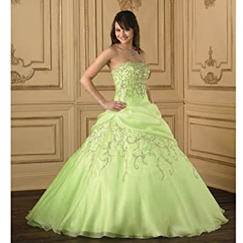 House of Wu Green Organza Quinceanera Gown Jr Girl 20