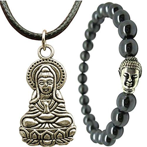 Lovely Buddha Bracelet and Necklace Choker Set