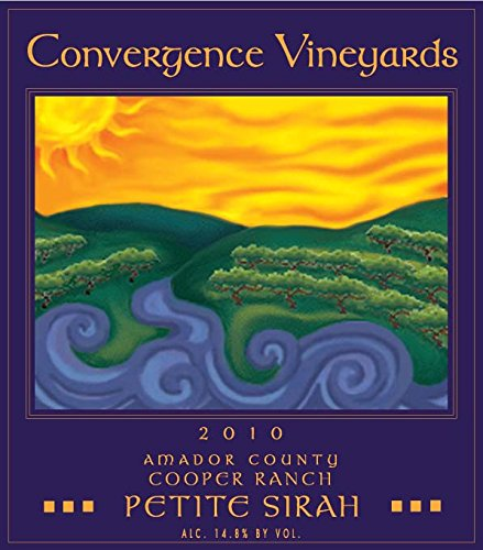 2010 Convergence Vineyards Reserve Cooper Ranch Amador County Petite Sirah 750 Ml