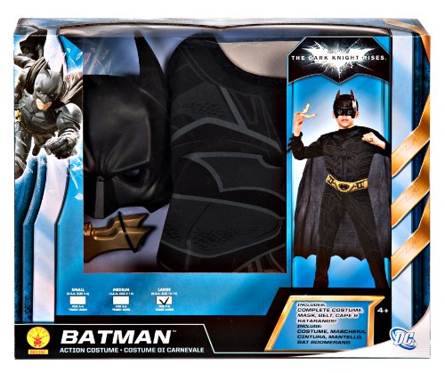 Batman: The Dark Knight Batman Action Box Set With Batarangs, Multicolored
