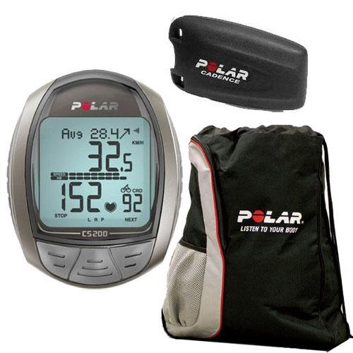 Cheap Polar CS200CAD Cycling Computer with Cadence Sensor and FREE Polar Cinch Bag (CS-200-CADKit)