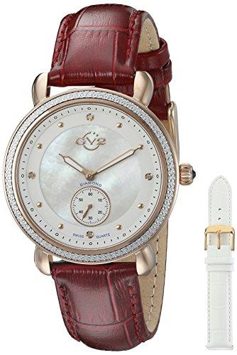 GV2 by Gevril Women's 9835 Marsala Analog Display Swiss Quartz Red Watch