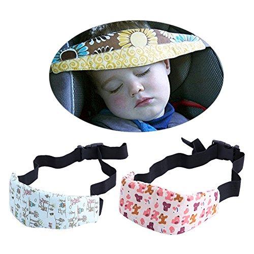 MEXUD-1Pc Safety Baby Kids Stroller Car Seat Sleep Nap Aid Head Fasten Support Holder Belt (Seat Belt Buckle Holder compare prices)