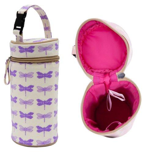 Pink Lining Purple Dragonflies Bottle Holder AW13