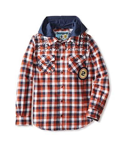 Desigual Kid's Flannel Shirt with Hood