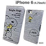 グルマンディーズ ピーナッツ iPhone6対応 スウェットフリップケース ハグ SNG-98A