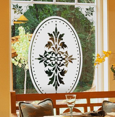 Doral+Centerpiece+by+Wallpaper+For+Windows%2C+etched+glass+adhesive-free+decorative+window+film