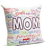Moms World Cushion with filler, Gift for Mother, Birthday gift for Mother, Cushion for Mother, Home Décor Cushion GIFTS1793