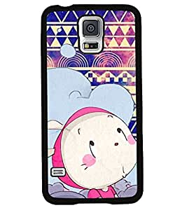 PRINTVISA Cartoon with pattern Premium Metallic Insert Back Case Cover for Samsung Galaxy S5 - G900I - D5993