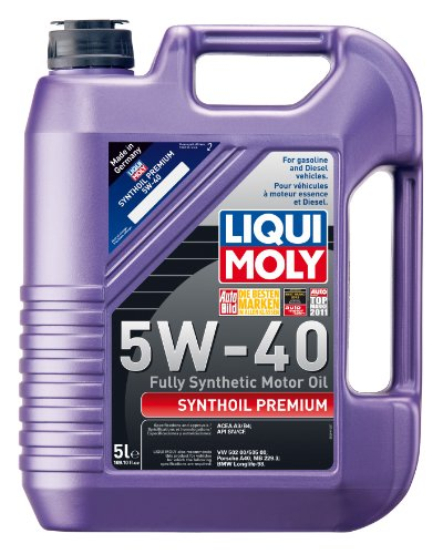 Liqui Moly 2041 Premium 5W-40 Synthetic Motor Oil - 5 Liter Jug (Engine Oil 5w40 compare prices)