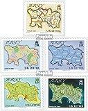 Gran Bretaña-Jersey 1462-1466 (completa.edición.) 2010 Mapas (sellos para los coleccionistas)