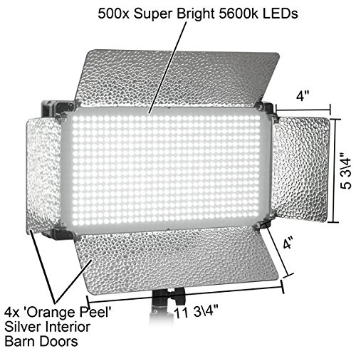 Ultra Bright Dimmed 500 LED Studio Light Panel White promo code 2016