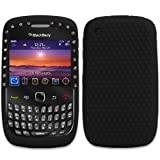 CNL BLACK DIAMANTE DIAMOND BLING SILICONE SKIN CASE COVER FOR THE BLACKBERRY CURVE 8520 / 9300 3G