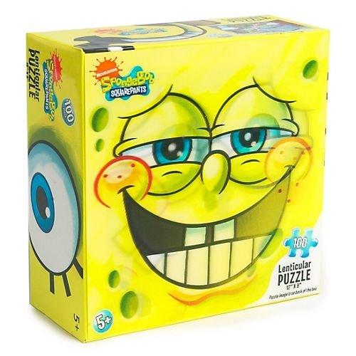 "SpongeBob SQUAREPANTS Lenticular Puzzle 100 Piece (Size 12"" X 9"")"