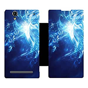 Phone Candy Designer Flip Cover with hi-res printed Vinyl sticker wrap-around for Micromax Canvas 2 Colors A120